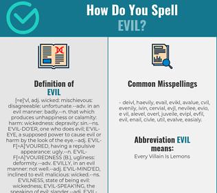 Correct spelling for evil