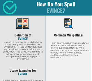 Correct spelling for evince