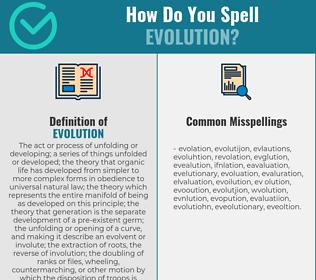 Correct spelling for evolution