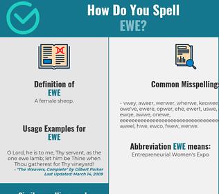 Correct spelling for ewe