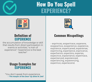 Correct spelling for experience