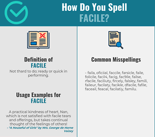 Correct spelling for facile