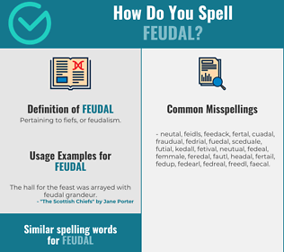 Correct spelling for feudal
