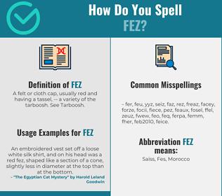 Correct spelling for fez