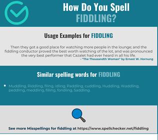 Correct spelling for fiddling