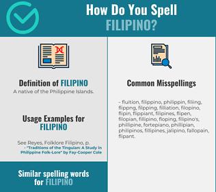 Correct spelling for filipino