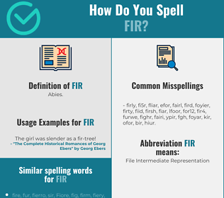 Correct spelling for fir