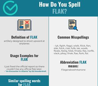 Correct spelling for flak