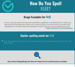 Correct spelling for flee