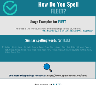 Correct spelling for fleet