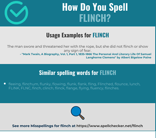 Correct spelling for flinch