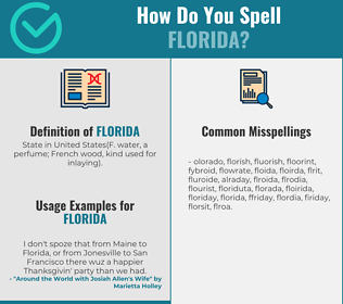 Correct spelling for florida