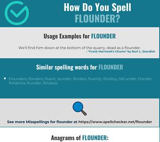 Correct spelling for flounder