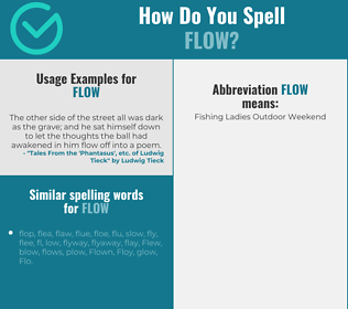 Correct spelling for flow