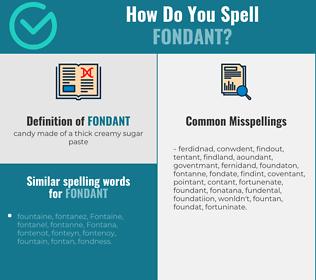 Correct spelling for fondant
