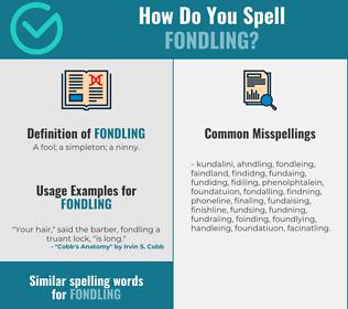 Correct spelling for fondling