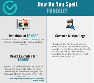 Correct spelling for fondue