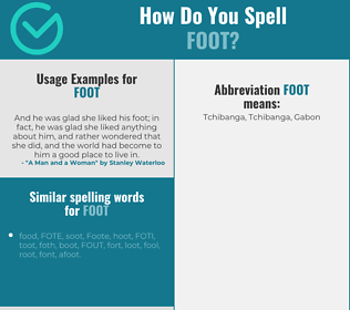 Correct spelling for foot