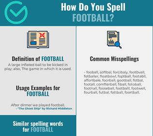 Correct spelling for football