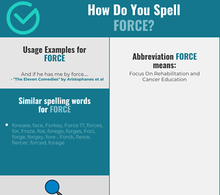 Correct spelling for force