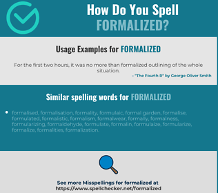 Correct spelling for formalized
