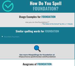 Correct spelling for foundation