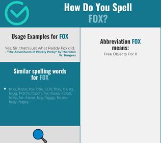 Correct spelling for fox