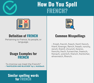 Correct spelling for french