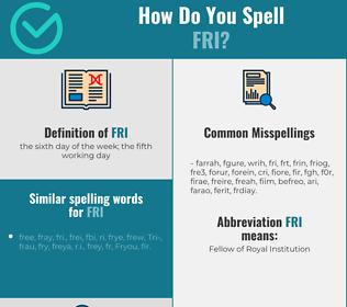 Correct spelling for fri