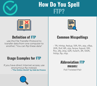 Correct spelling for ftp