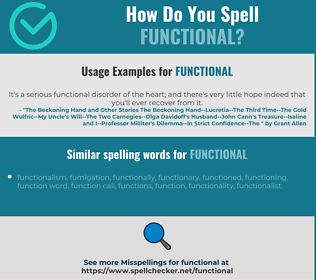 Correct spelling for functional