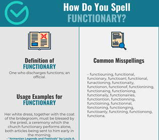 Correct spelling for functionary