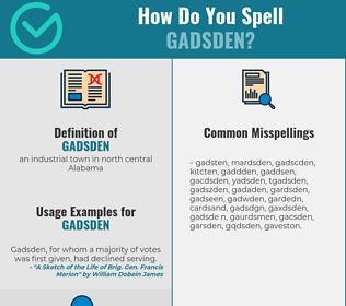 Correct spelling for gadsden
