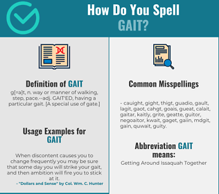 Correct spelling for gait