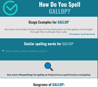 Correct spelling for gallop
