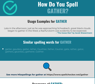 Correct spelling for gather