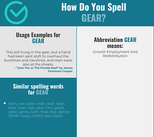 Correct spelling for gear