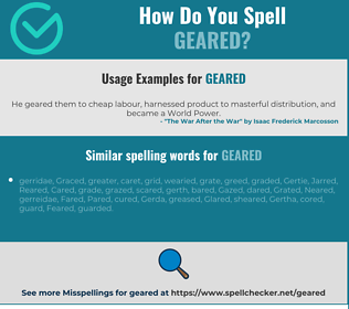 Correct spelling for geared