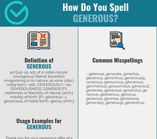 Correct spelling for generous