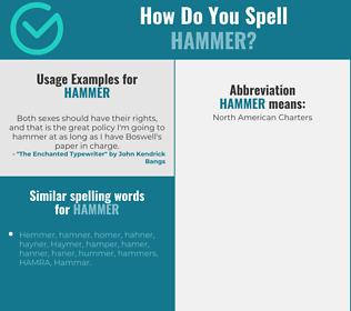 Correct spelling for hammer