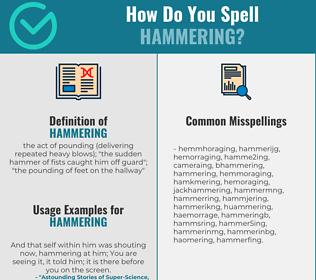 Correct spelling for hammering