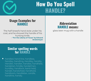Correct spelling for handle