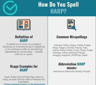 Correct spelling for harp