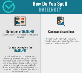 Correct spelling for hazelnut