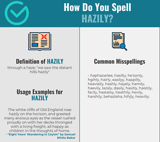 Correct spelling for hazily