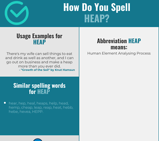 Correct spelling for heap