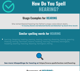 Correct spelling for hearing