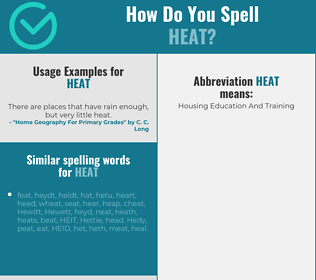 Correct spelling for heat
