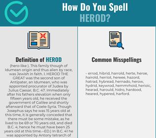 Correct spelling for herod