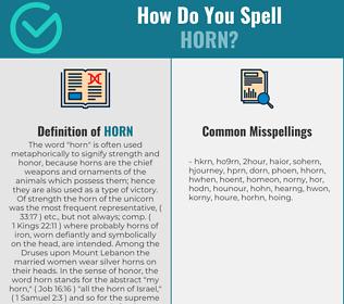 Correct spelling for horn